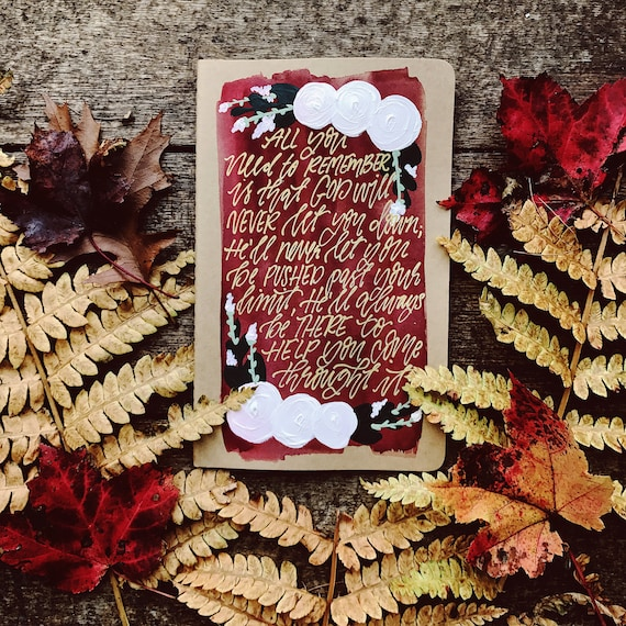 Personalized prayer journal, custom Christmas gift for Christians, scripture gift, bible verse art, hand painted bible gift for bride