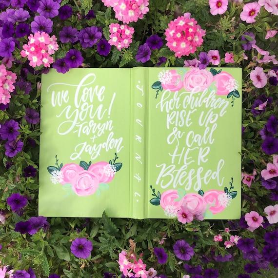 Hand painted hardcover prayer journal, personalized war binder, bible journaling supplies, custom gift for her, prayer warrior gift,