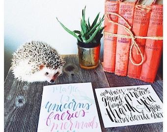 Best friend card, you're magical, girlfriend, pretty pastel, mermaid card