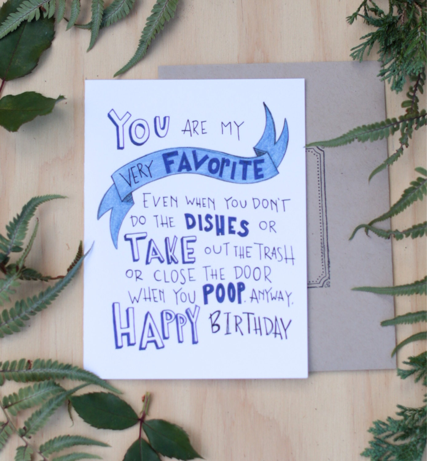 Funny Birthday Card For Boyfriend Husband You Are My Very Favorite