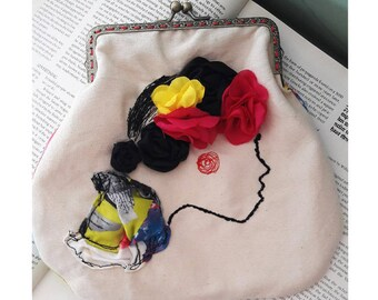 Frida Kahlo inspired embroidered bag