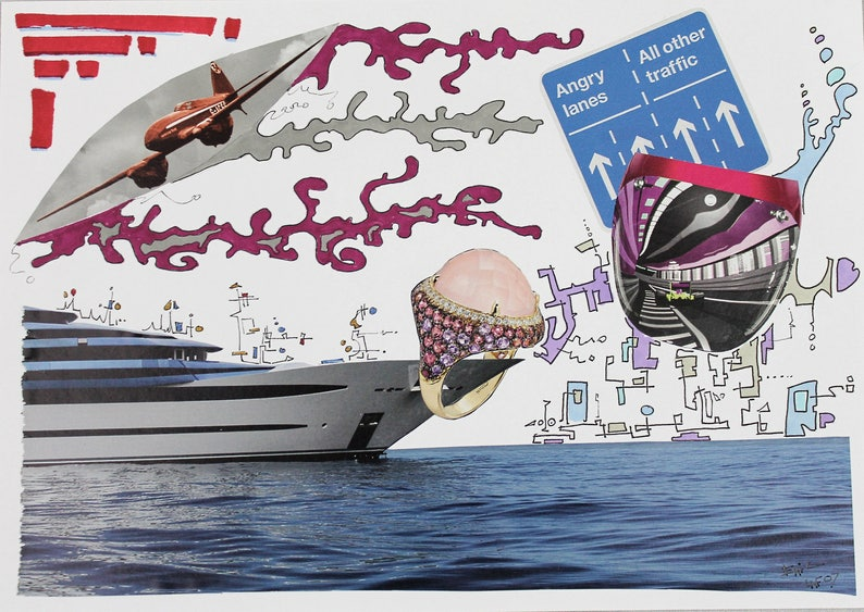 Moneyco... Original Collage by Eric Lafoy image 0