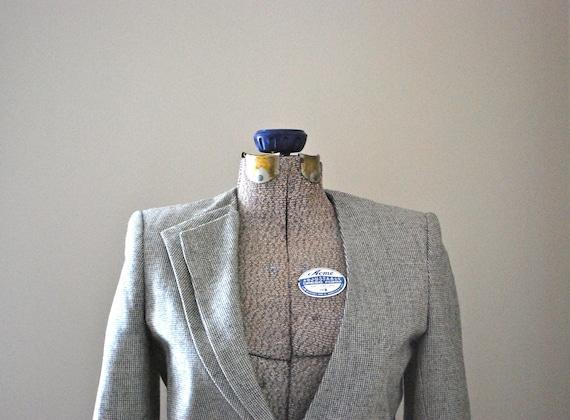 Cropped Asymmetrical Wool Blazer