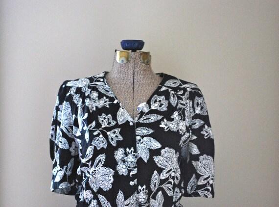 Black & White Floral Dress