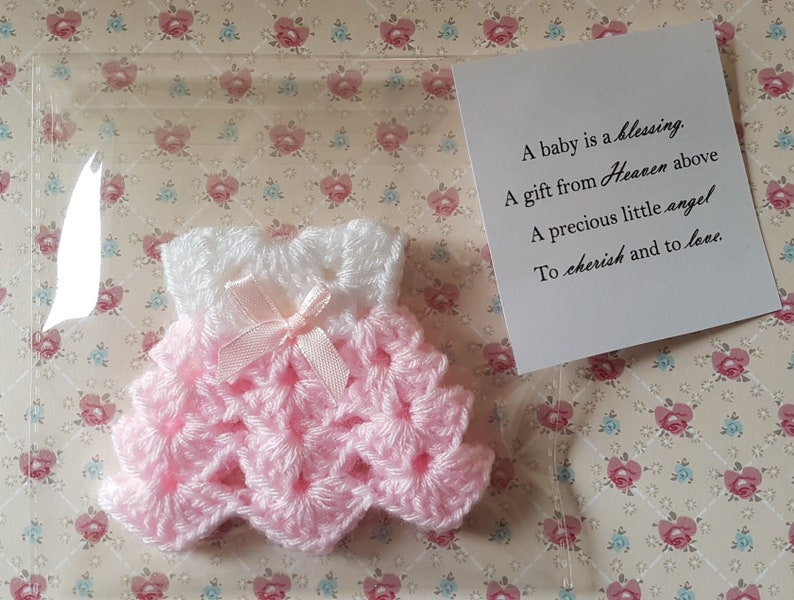Baby Shower Favours Mini Dress Crochet Miniatures Girl Etsy