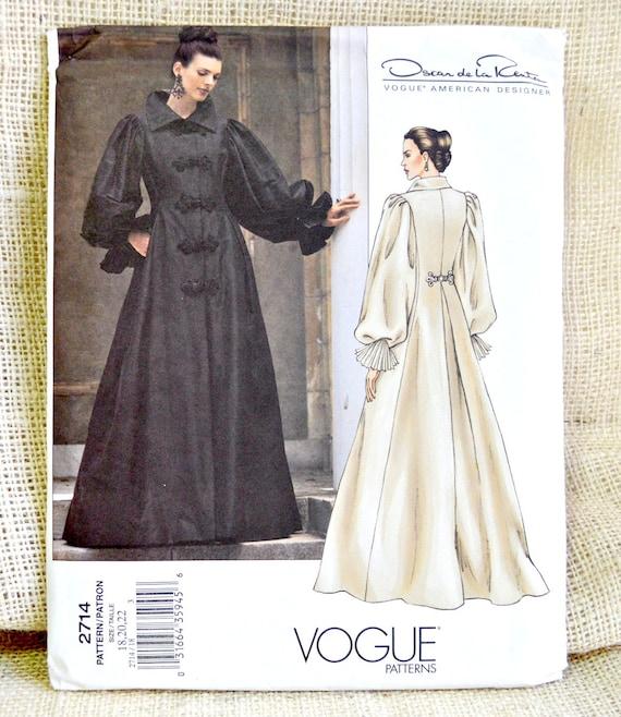 Uncut Vogue 2714 Coat Dress Pattern // Oscar de la Renta