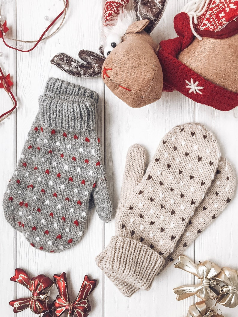 KNITTING PATTERN /Hand Knit Mittens/ Womens Men Baby Adult image 0