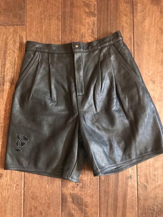 Vintage Leather Shorts - image 6
