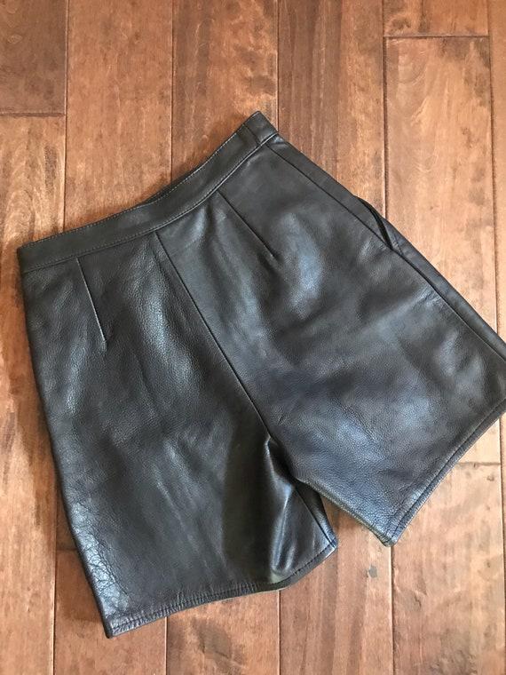 Vintage Leather Shorts - image 2