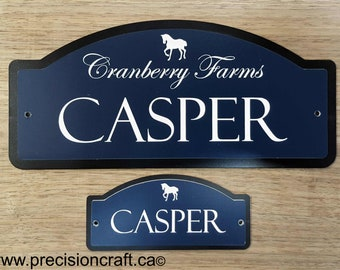 Horse Stall Name Plate   The Standard