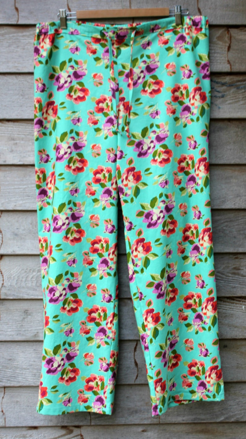 9dd44d9cb8f3 Pajama Pants Cotton Floral Pajamas Amy Butler Bright Heart