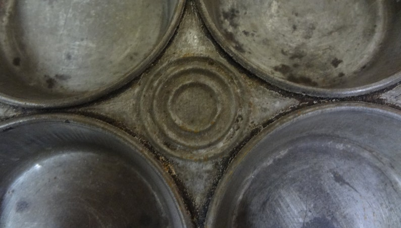 Antique Muffin Baking Tins TWO 2