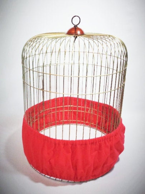 MEDIUM/Large Bird CAGE Seed Catcher Skirt in Solid Color Flannel