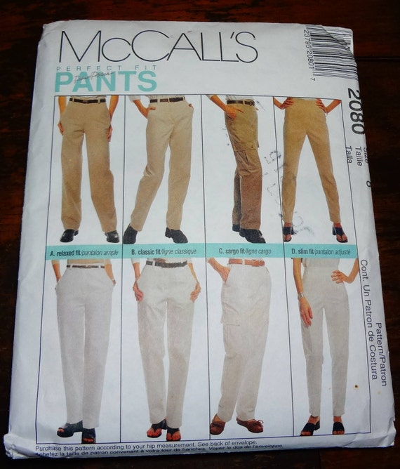 3c905b5dc13 UNCUT 2080 McCall s Perfect Fit Misses Pants Pattern Size