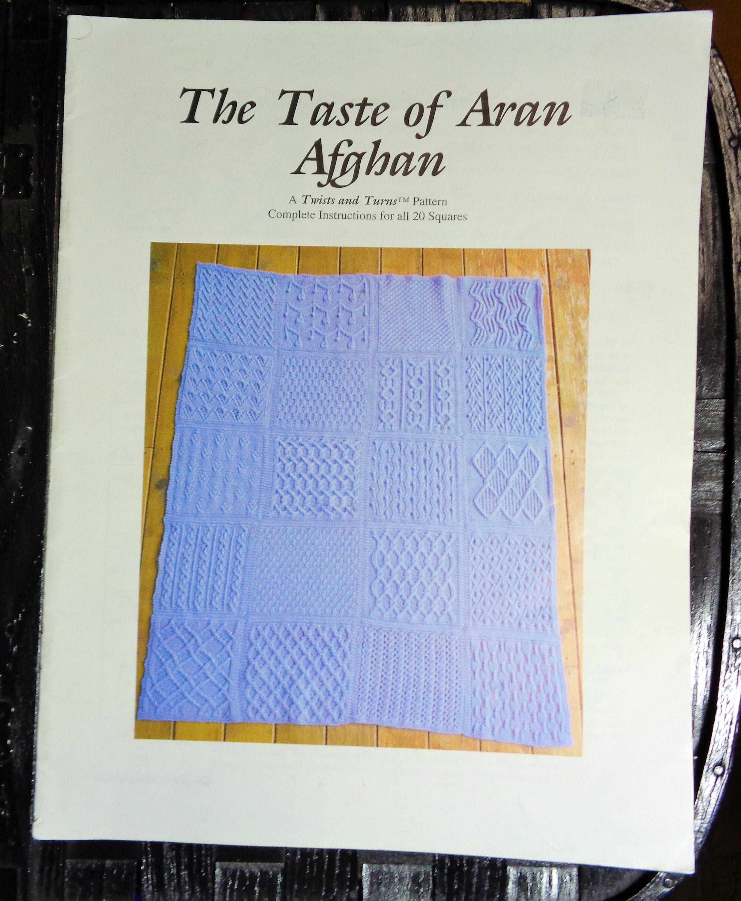 The Taste Of Aran Afghan Complete Instructions For 20 Squares Etsy