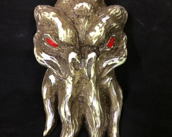 Cthulhu ornament painted by hand