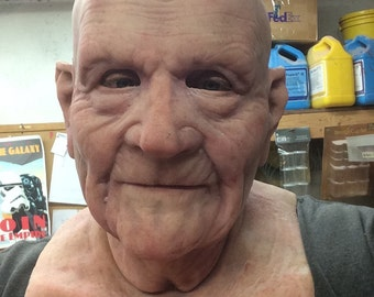 Barry- Old Man Mask- great disguise and made to order- bald no eyebrows