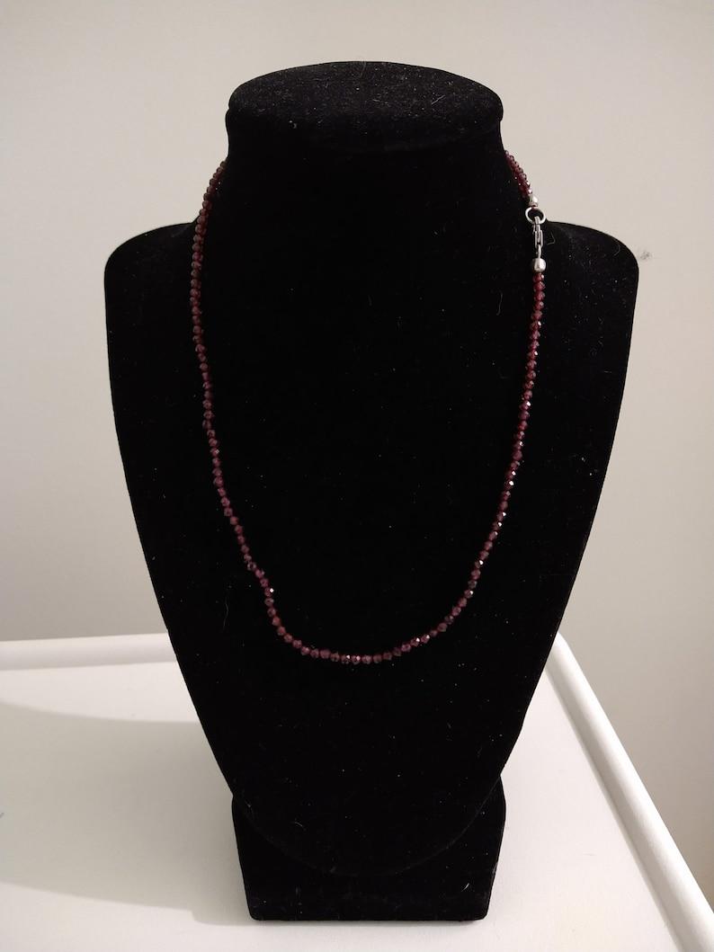 41.00ctw Orissa Rhodolite Garnet Faceted Bead 18in Necklace in Sterling Silver