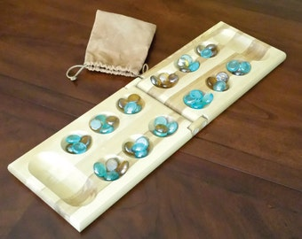 Personalized Engraved Mancala Wooden Marble Game Gift