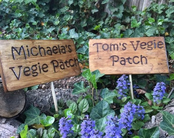 Reclaimed Outdoor Wooden Sign   Garden Sign, Personalized Custom Sign,  Rustic Sign, Outdoor Sign, Reclaimed Wood, Wood Burned