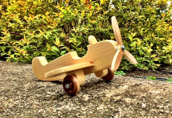 Wooden Toy Plane Handmade Toy Propeller Plane Kids Toy Wooden Aircraft