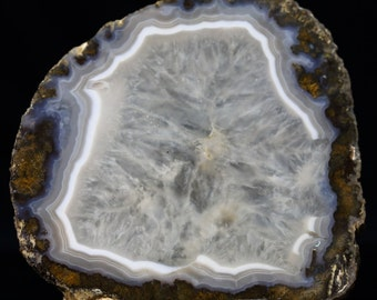 Beautiful Large Translucent Fortification Agate Slab
