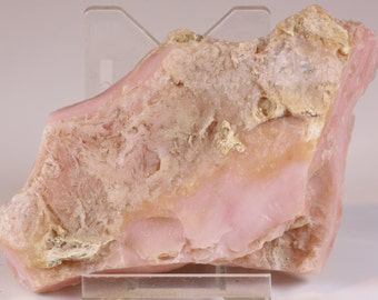 Beautiful Rough Pink Fluorescent Peruvian Opal