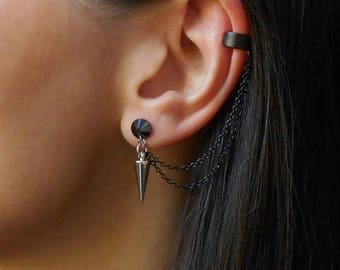 e6589c7e2c64b Spike ear cuff | Etsy