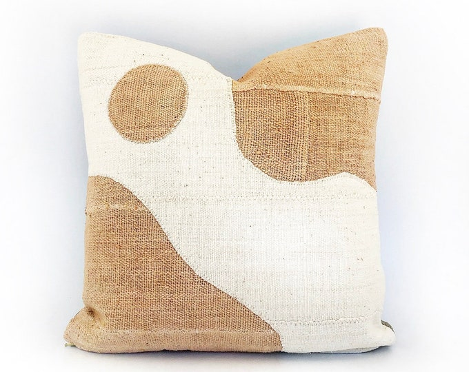 African Mudcloth Modern Abstract Pillow Cover 18x18