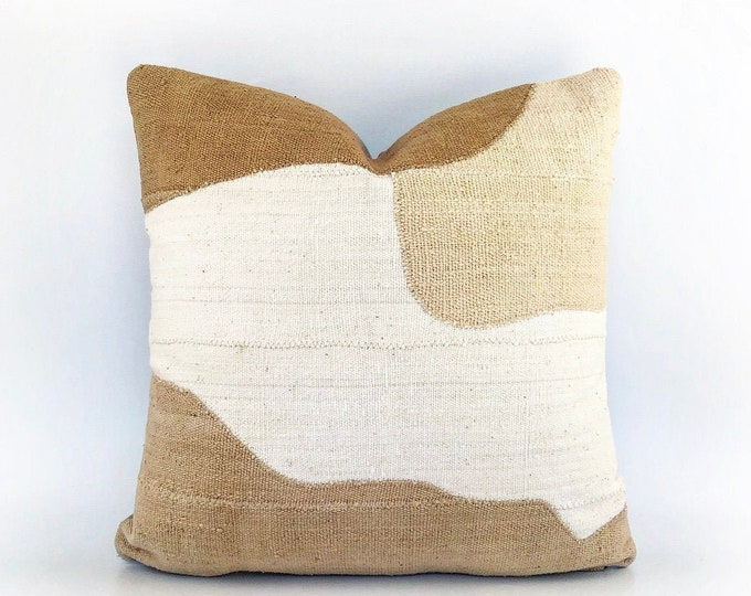 African Mudloth Modern Abstract Pillow Cover 20x20