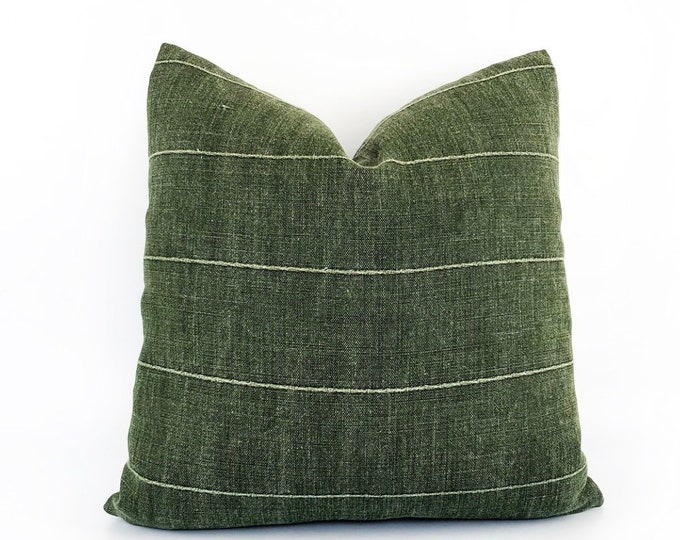 Designer Green Linen Pillow Cover Various Sizes