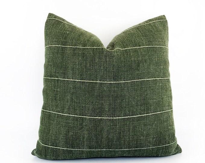 Designer Green Linen Pillow Cover Various Sizes