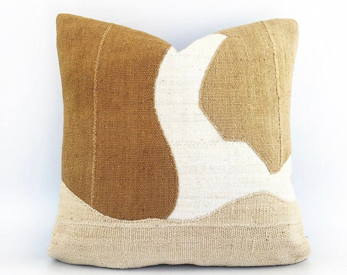 African Mudcloth Modern Abstract Pillow Cover 20x20