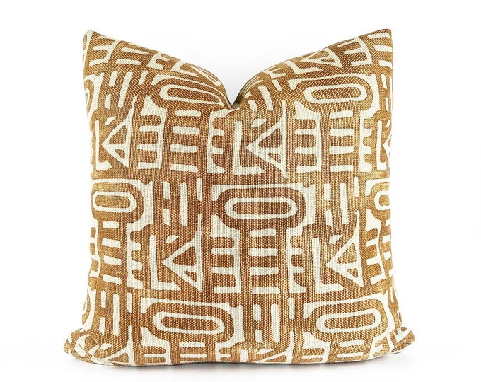 Heavy weight Tribal Belgian Linen Pillow Cover 20x20