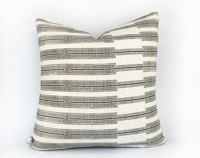 Designer Susan Connor Heavy Weight Belgian Linen Pillow Cover 18x18