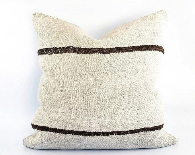Vintage Handmade Wool Kilim Pillow Cover 23x23