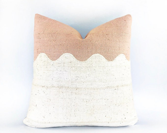 Handmade African Mudcloth Modern Wave Pillow Cover 20x20