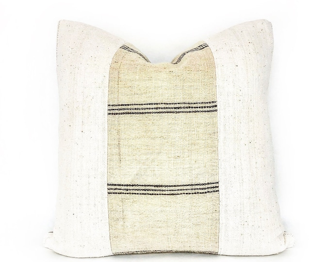 Handwoven Wool Indian Textile And African Mudcloth Pillow Cover Various Sizes