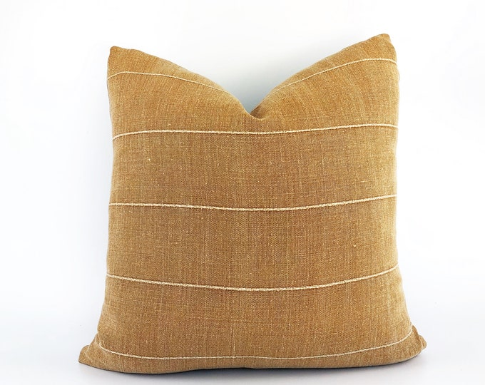 Designer Terra-Cotta Linen Pillow Cover Various Sizes