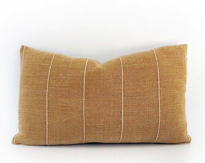 Super Soft Designer Terra Cotta Linen Pillow Cover