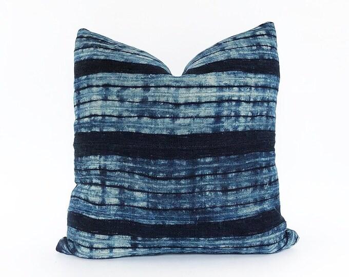 Indigo Hemp Hmong Hill Tribe Textile Pillow Cover 18x18