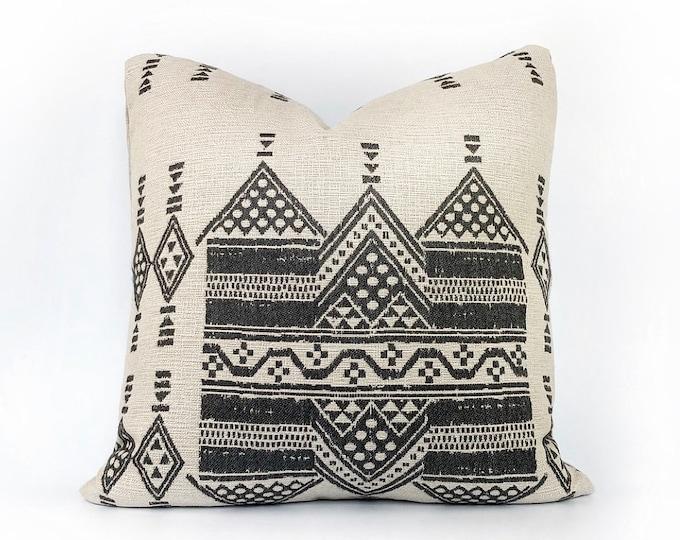 Indoor/Outdoor Woven Tribal African Pillow Cover 20x20