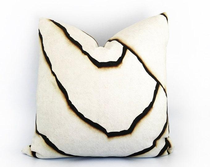 Modern Printed Burnt Linen Pillow Cover 20x20