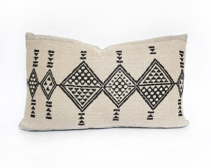 OUTDOOR Woven African Tribal Lumbar Pillow Cover Various Sizes