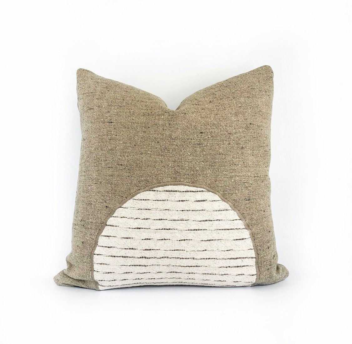 Organic Libeco Belgian Linen And Hmong Hill Tribe Textile Pillow