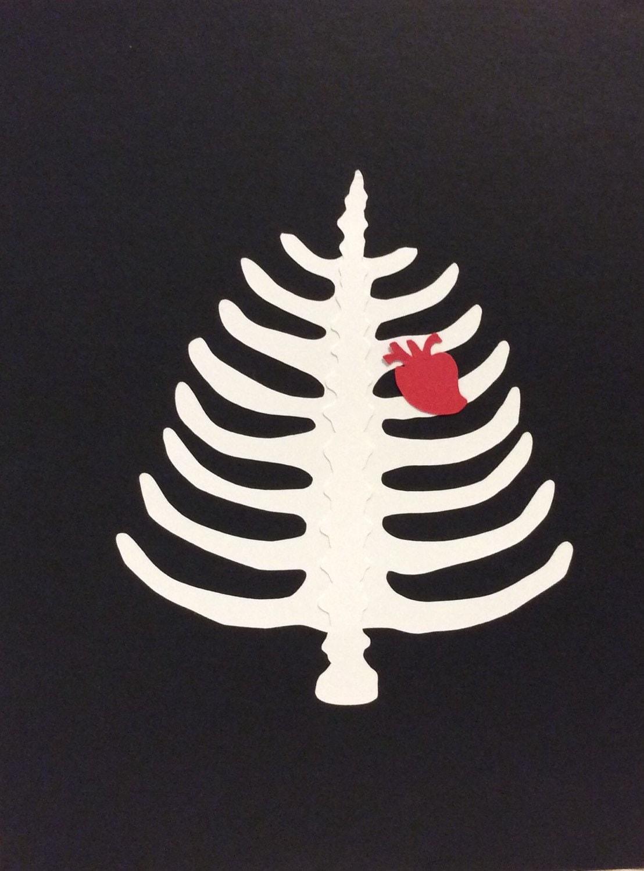 Goth Christmas Card Rib Cage Christmas Tree Box Set | Etsy