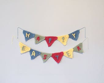 Easter Decoration - Happy Easter Decoration - Custom and Personalized Crochet Party Banner Decoration