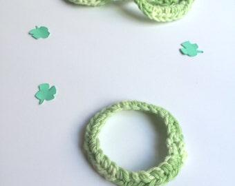 Crochet Friendship Bracelets - Green St Patrick's Day Accessories - Kids and Teen Friendship Bracelet Sets