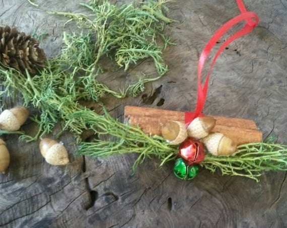 Cinnamon Yule Log Tree Decoration, Yule Log, Yule Decorations, Tree Decorations, Tree Ornaments, Christmas Decorations, Pagan Christmas