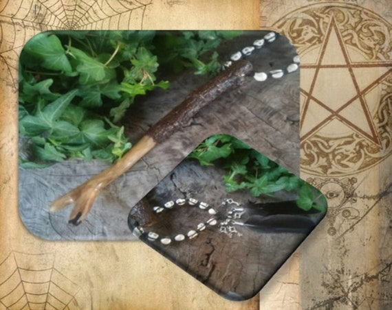 Witch stang, magnolia wood, Hecate wand